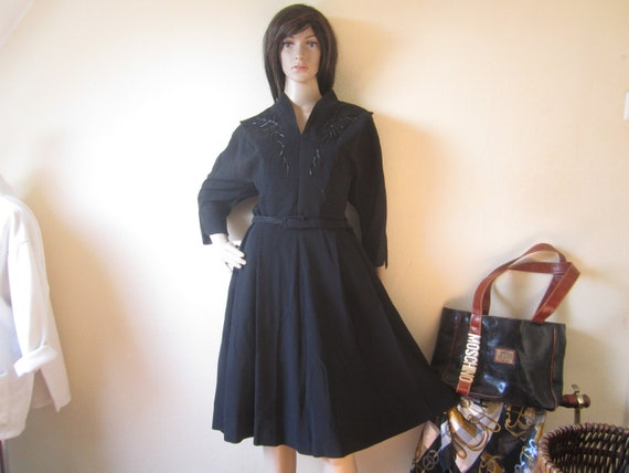 True Vintage 40s Dress 40s Rips Dress Day Dress