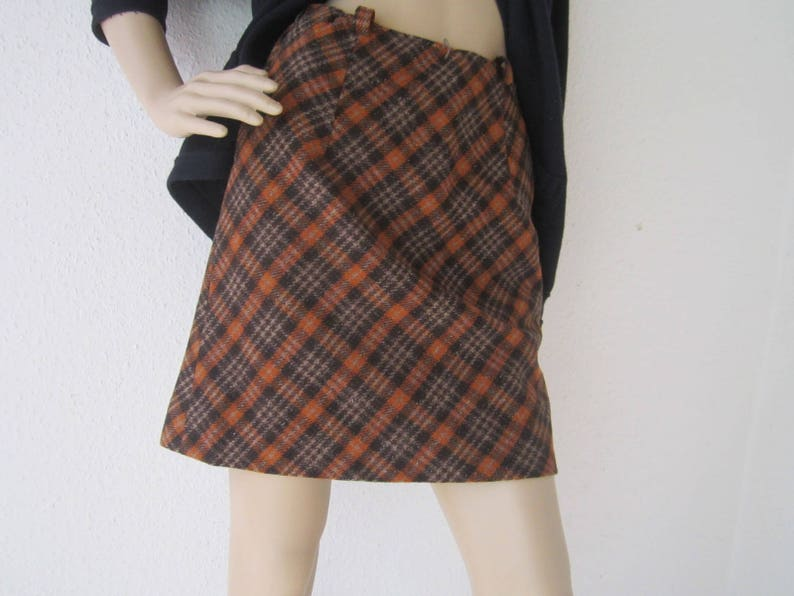 5377d9327 Vintage 60s A-Linie Rock Wool Skirt Twiggy True   Etsy