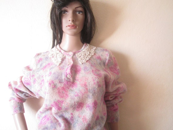 Vintage Kid Mohair Sweater 60s - image 1