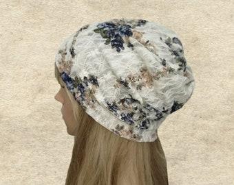 Summer slouch beanie, Slouch hat summer, Light slouchy hat, Slouchy beanie women, Lace slouch beanie, Slouchy lace hat, Boho beanie summer