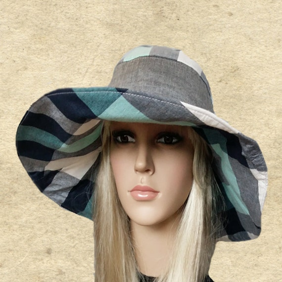 Bohemian sun hats Large brim hat lady Summer fabric hats  bcc044454ba