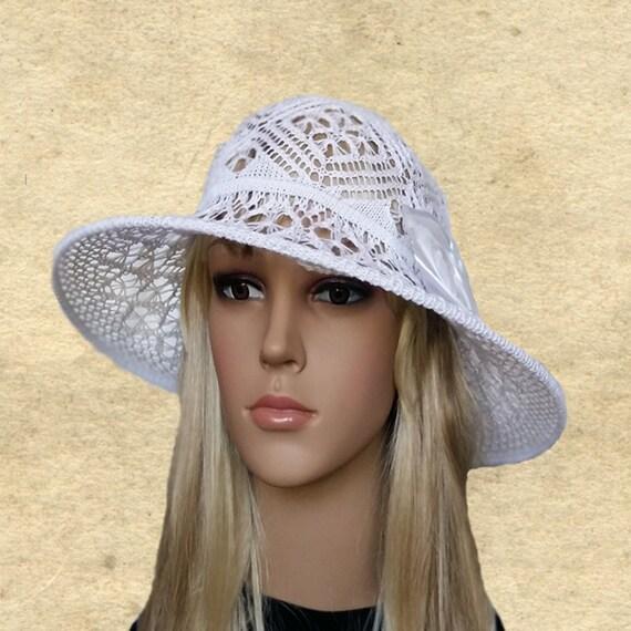 Hut Sommer breiter Krempe Baumwolle Hüte Lady Suns großer | Etsy