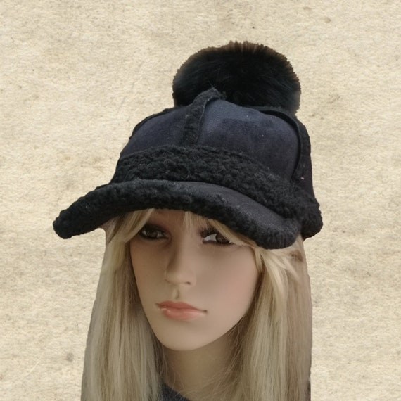 Winter hat women Baseball winter cap Black winter cap Hat  bdd1ddf71d