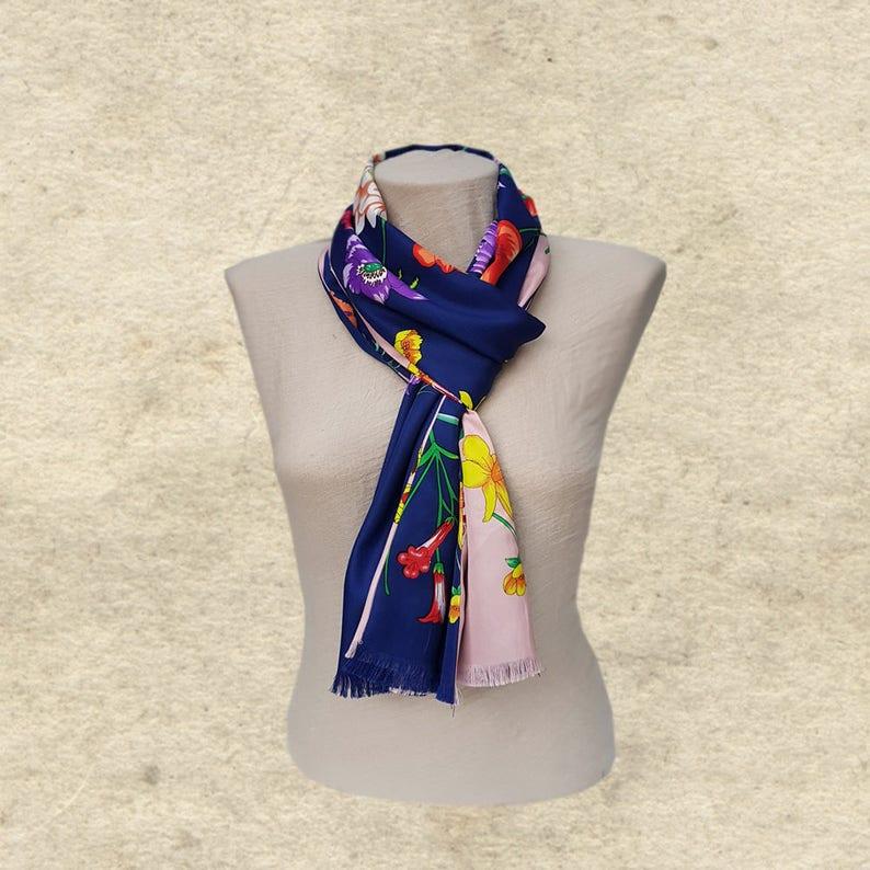 bd78efbc0b8661 Damen dünnes Tuch Trendy hellblau Schal doppelseitig Schal | Etsy