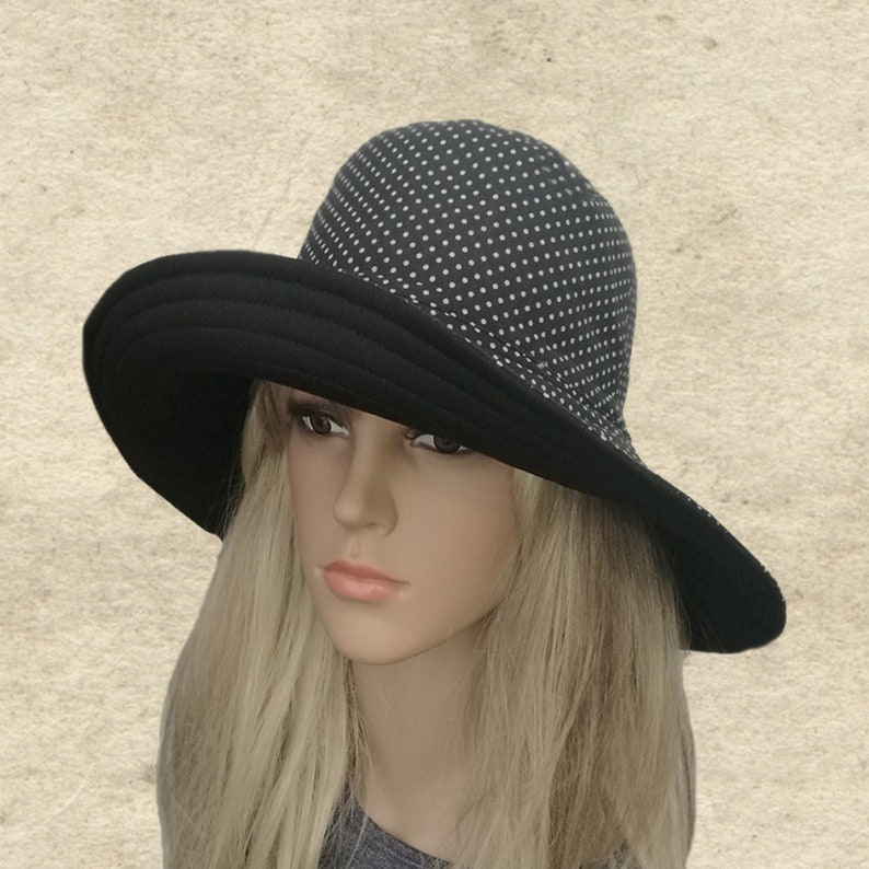 5484e547a31 Summer fabric hats Womens cotton hats Wide brim hats Trendy