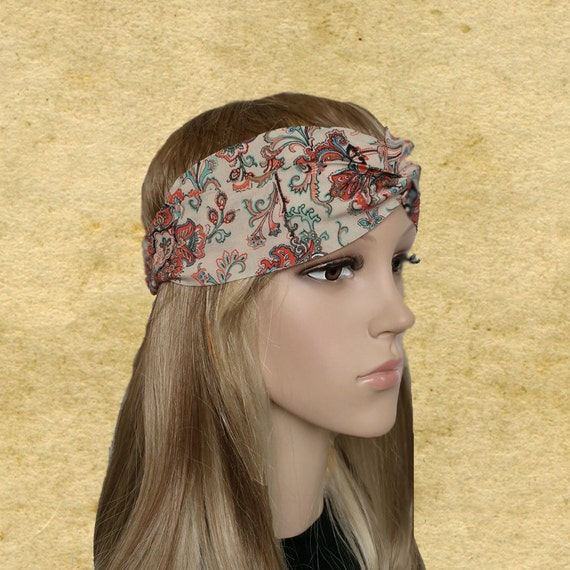 Bohemian headbands Boho chic headband Twisted headband  e7c50714b80