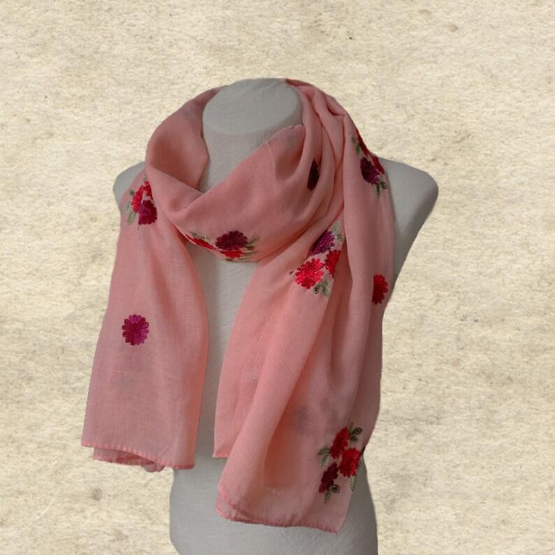 a1489061342 Foulard en coton femmes brodé écharpe foulard pour les