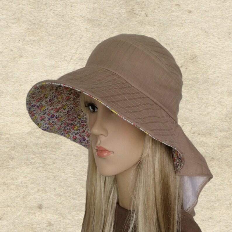 f386c0f60e37 Suns womens hats Wide brim linen hat Summer hats women
