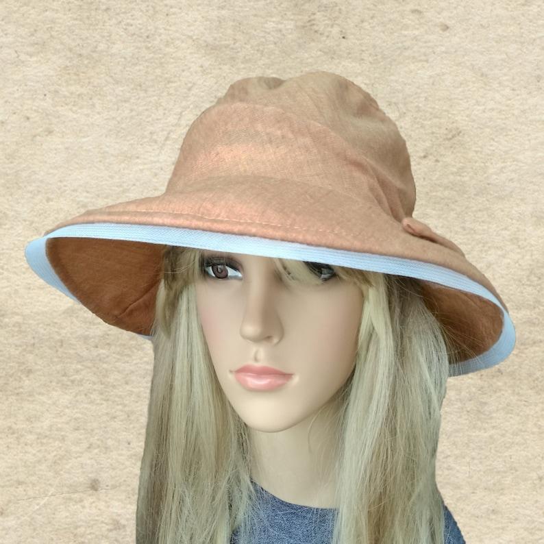 b77cb8ced Bohemian sun hats, Large brim hat lady, Summer fabric hats, Cloche summer  hat, Floppy sun hats, Beach cotton hats, Boho summer hats