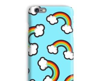 Regenboog iPhonegeval, wolken iPhonegeval, blauwe iPhonegeval 6, grappige iPhonegeval 6, Hipster iphone 6s case, Weird iPhonegeval