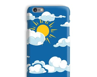 Sky iPhone Case, Clouds iphone case, Sun iphone 6 case, Blue iphone 6 case, Weather iphone 6s case, Nice iphone case