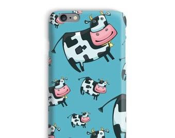 Koe iPhonegeval, blauwe iPhonegeval, landbouwer iPhonegeval 6, Cartoon iPhonegeval 6, grappige iphone 6s case, Cool iPhonegeval