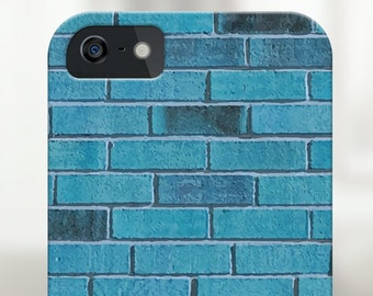 blue brick iphone case, blue iphone case, blue iphone 6s case, blue iphone 6 case, blue iphone 5s case, blue iphone 5 case, blue phone case