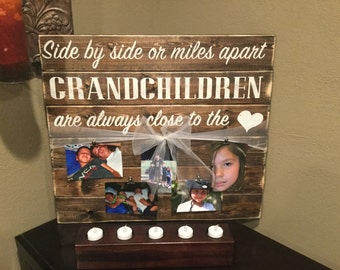 Grandchildren photo board with personalization