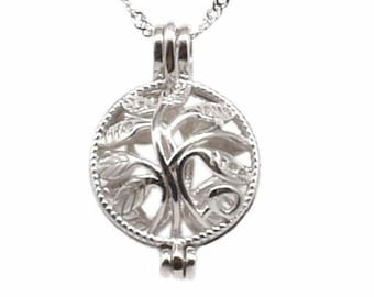 cdcacaa20670 Tree of life pearl cage pendant