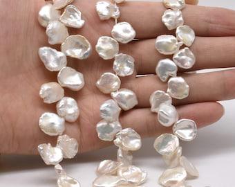Cornflake Pearl Petal Pearls Top Drilled 8-9mm Keshi Pearl