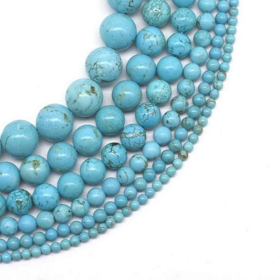 1 Brin Perles 4 mm BOULES quelque Pierre Turquoise Couleurs