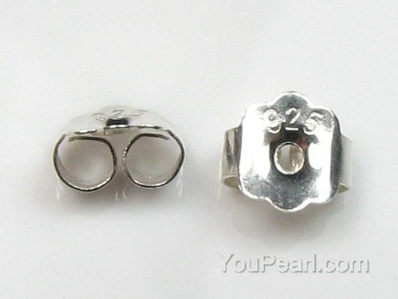 Pendiente de plata esterlina 925 Back tapones oído Post Tuercas 5mm hallazgos