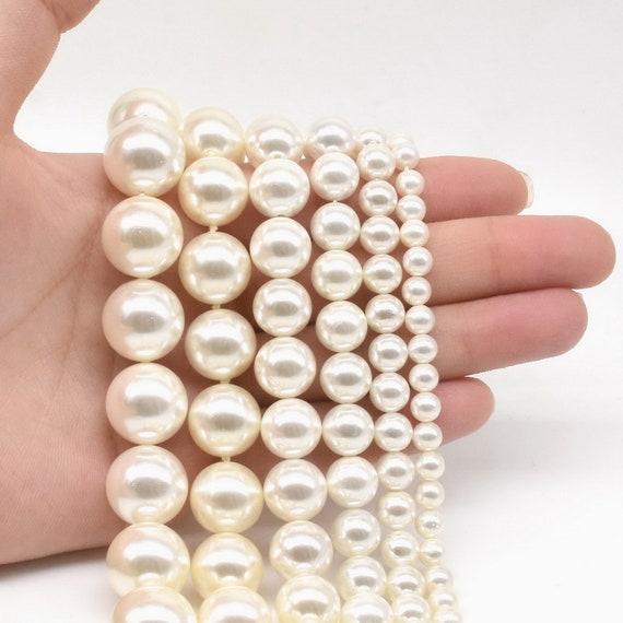 Noir Gris Foncé Coquille de Mer Nacre Perles pour Fabrication des Bijoux