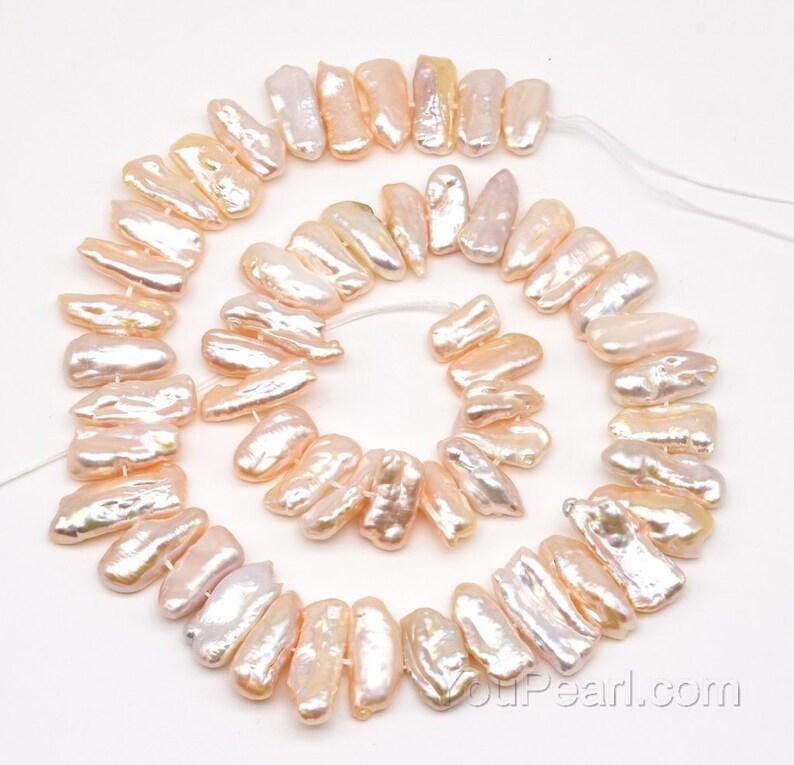 ec5431305 Biwa pearls peach fresh water pearl cultured natural pearls | Etsy
