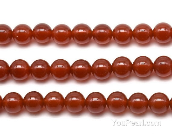 3MM CARNELIAN RED AGATE GEMSTONE GRADE A ROUND 3MM LOOSE BEADS 16/""