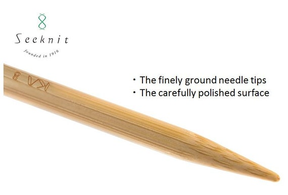 """Very Nice 11 size choices double point 5/"""" bamboo knitting needles US 0-10.5"""