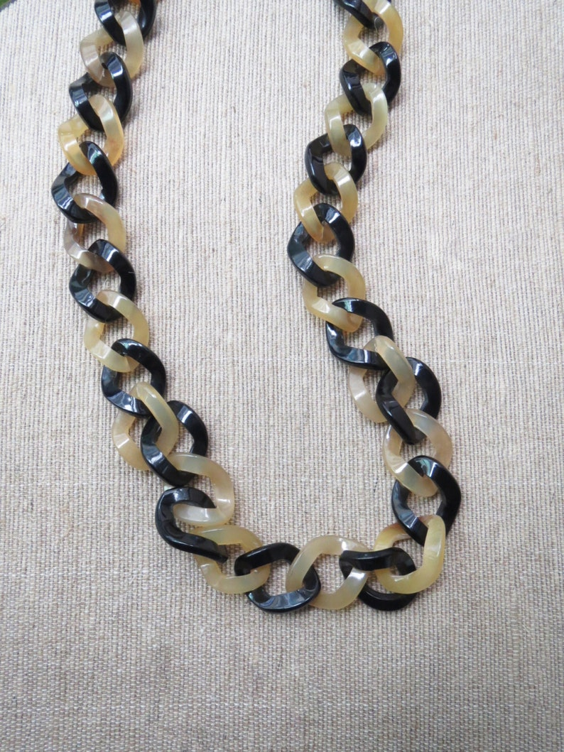Short Chain Necklace Link Chain Necklace Horn Necklace Handcrafted Jewelry 24.4 length Short Necklace Chain Necklace Horn Jewelry