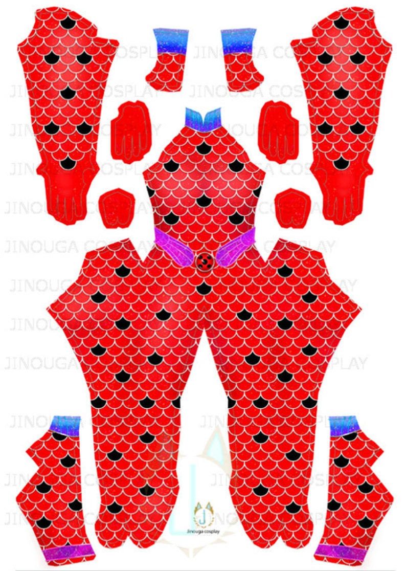 download file AQUA Ladybug suit pattern