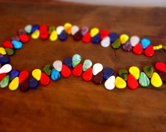 Multicolor necklace made of glass (Peulh)