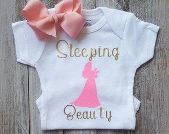 Baby girl clothes, Onesie, Sleeping beauty onesie, Princess onesie, Baby girl, Baby clothes, Baby, Baby girl onesie, Onesies, Baby onesies