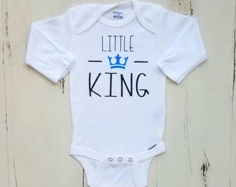 Little king, Baby boy clothes, Onesie, Baby boy, Cute onesie, Baby boy onesies, Baby, Baby boy onesie, Onesies, Baby clothes, Boy onesie