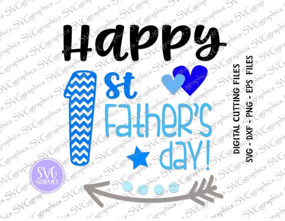 Free Happy first fathers day 2019. Svgdxf 102 Happy First Father S Day Svg Dxf Eps And Png Etsy SVG, PNG, EPS, DXF File
