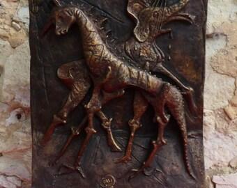 El Salvador Dali (18kg / 58cm)-Sculpture-Bronze-marble-numbered 7 / 9 - 1978 signed