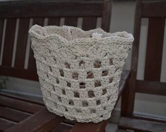 Crochet Knitted Cotton bag