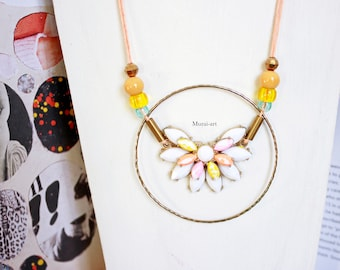 Ring flower necklace