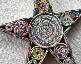 Rolled paper ornaments - tree and star