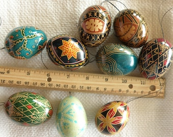 Pysanky (Ukrainian style eggs) - several designs