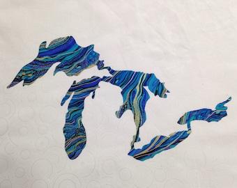 Great Lakes appliqué patch