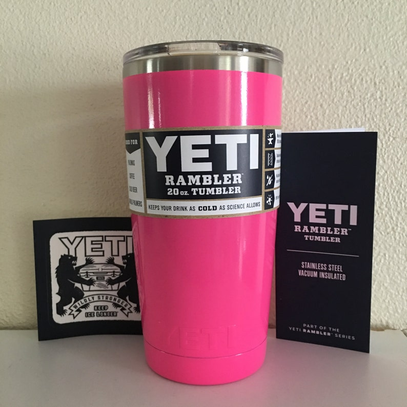 Yeti Cup Prices >> Yeti 20oz Yeti Stainless Steel Rambler Tumbler Cup Powder Coated Hot Pink Comes In 20oz 30oz Colster Lowball And Bottles Prices Vary