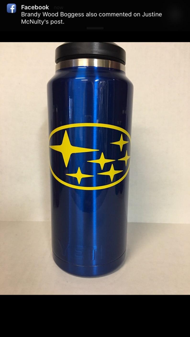 3e7b193481a Yeti Bottles Powder Coated Subaru Blue Hot Candy Blue. 18oz | Etsy