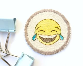 Coworker gift   patch-emoji, personalize-bag, tote-bag-personalise, secret-santa, t-shirt-custom, best friend gift, embroidered-patch