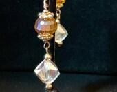 Amber Crystal Earrings