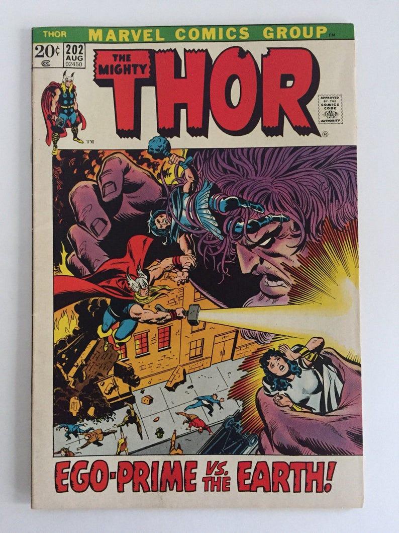 Thor #202! Ego-Prime appearance! GOTG 2! Marvel 1972