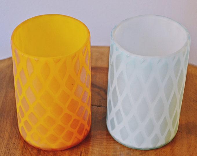 Murano Glass, Tumblers, Vetro Artistico Veneziano, Venetian Glass