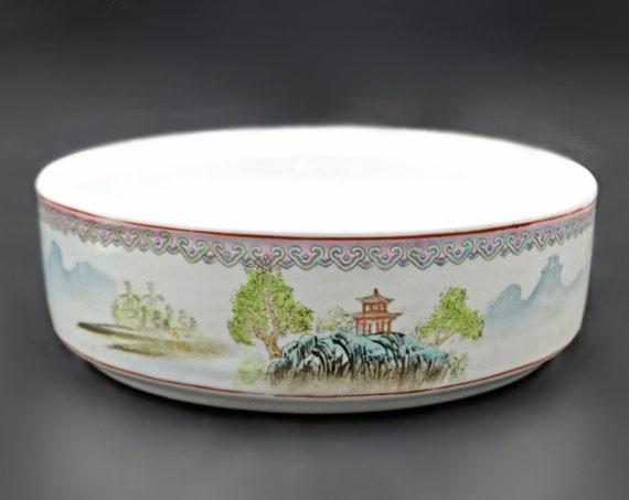 Chinese Planter, Pagoda Design Bowl