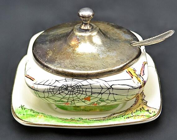 Royal Winton Grimwades Jam Jar With Underplate, Condiment Pot, Rheims Shape