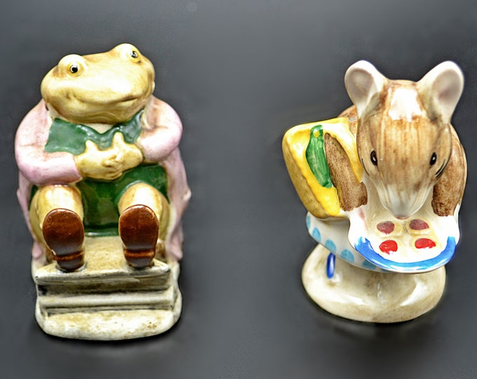 Beswick Figurines, Beatrix Potter, Mr Jackson, Appley Dapply
