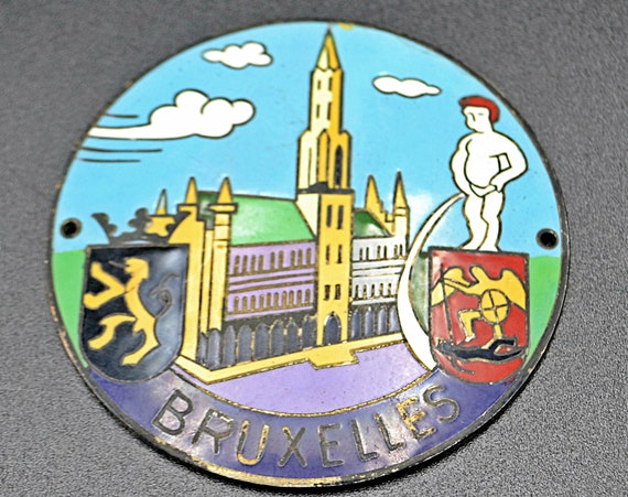 Wappen Reu Heubach Car Badge, Bruxelles, Auto Shield