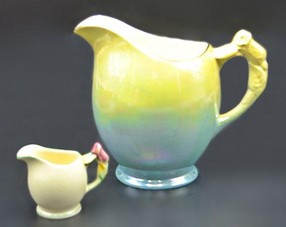 Royal Winton Grimwades Lusterware Blue Rosebud Pitcher, Miniature Rosebud Jug