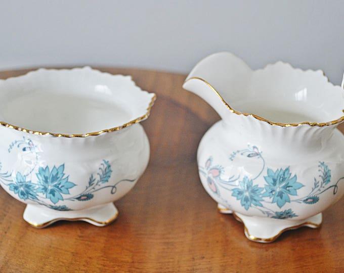 Aynsley 'Delphine' Creamer And Sugar Bowl, Vintage Aynsley Fine Bone China